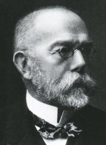 Portrait of Robert Koch (1843—1910). Photo published in 1907 in Les Prix Nobel