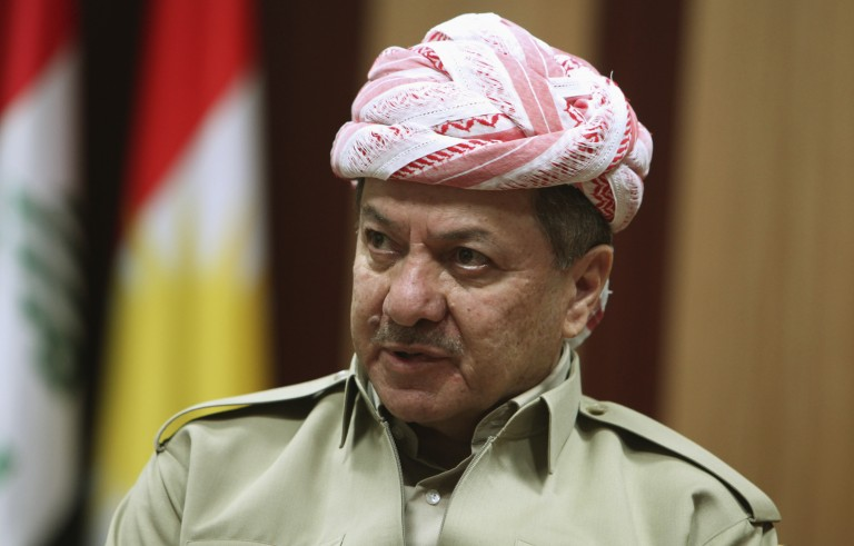 File photo of Kurdish Regional Government President Masoud Barzani by Azad Lashkari/Reuters