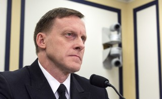National Security Agency Director Michael Rogers testifies before a House (Select) Intelligence Committee hearing in Washington November 20, 2014. Rogers spoke Thursday at the Aspen Security Forum about U.S. cyber-security. Photo by Joshua Roberts/Reuters