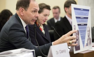 "Veterans Affairs (VA) Secretary Robert McDonald testifies before a Senate Veterans' Affairs hearing on ""FY2016 Budget for Veterans' Programs and FY2017 Advance Appropriations Request"" at the U.S. Capitol in Washington February 26, 2015. Photo by Joshua Roberts/Reuters"