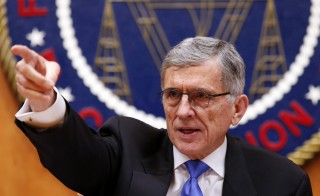 Federal Communications Commission (FCC) Chairman Tom Wheeler gestures at the FCC Net Neutrality hearing in Washington February 26, 2015. Photo by Yuri Gripas/Reuters