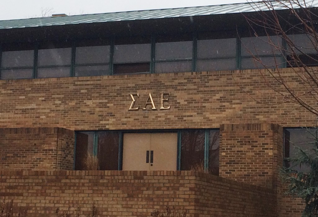 The University of Oklahoma closed the Sigma Alpha Epsilon fraternity earlier this month after a video surfaced of students singing racist epithets. Photo by Heide Brandes/Reuters