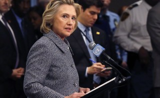 Former U.S. Secretary of State Hillary Clinton speaks during a news conference in New York, March 10, 2015. GOP congresswoman Susan Brooks called Saturday for Clinton to turn over the private email server she used to store her State Department correspondence. Clinton's controversy has highlighted inconsistent email regulations across government agencies.  Photo by Lucas Jackson /Reuters