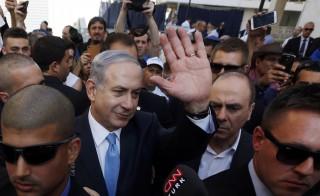 Israel's Prime Minister Benjamin Netanyahu campaigns in Ashkelon