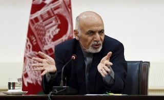 Afghan president Ashraf Ghani speaks during a event with media in Kabul, March 21, 2015. Ghani publicly acknowledged for the first time on Saturday that Islamic State was gaining influence in Afghanistan, as he prepared to leave for the United States to seek to slow the withdrawal of American troops. Deficiencies in the Afghan forces, high army and police casualties, a fragile new government and rising fears of ISIS strongholds may delay U.S. tr5oop withdrawals from Afghanistan. Photo byu Omar Sobhani/Reuters.