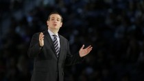 U.S. Senator Cruz confirms his candidacy for the presidential election race during a speech at Liberty College in Lynchburg, Virginia