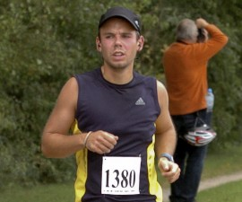 Andreas Lubitz runs the Airportrace half marathon in Hamburg