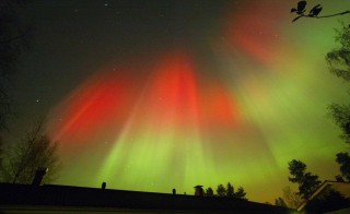 A severe geomagnetic storm slammed into Earth on Tuesday, generating spectacular northern lights, like these seen over Finland. Photo by Pekka Sakki/Reuters
