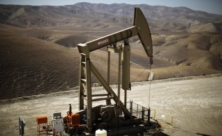 A pumpjack brings oil to the surface in the Monterey Shale, California, April 29, 2013. Most of that oil is not economically retrievable except by hydraulic fracturing, or fracking, a production-boosting technique in which large amounts of water, sand and chemicals are injected into shale formations to force hydrocarbon fuels to the surface. Photo by Lucy Nicholson/Reuters