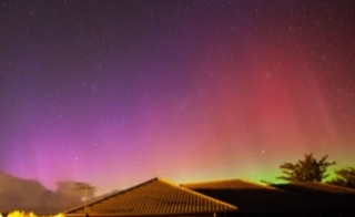 Aurora australis lights up skies in New Zealand in March 2015. Screen image by PBS NewsHour