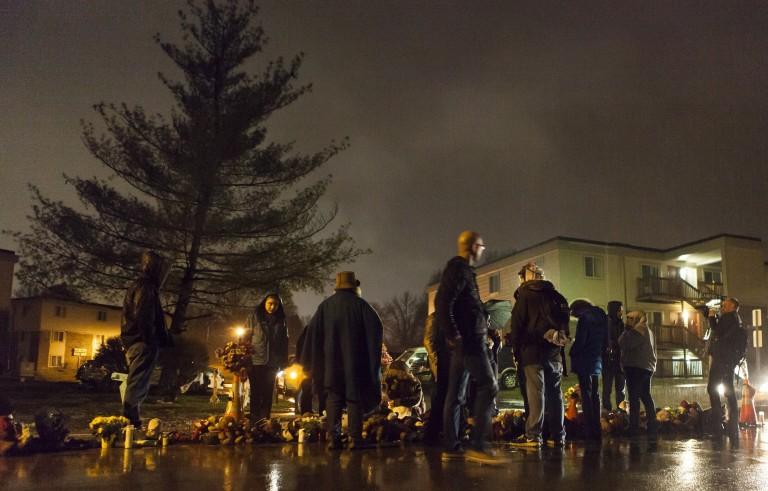 Mourners visit Michael Brown memorial in Ferguson