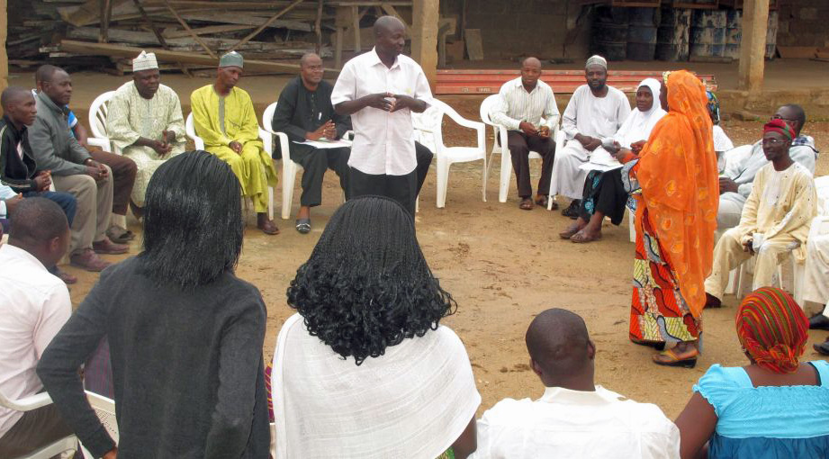 A trauma-healing workshop in Nigeria held in the summer of 2012. Photo courtesy of Search for Common Ground
