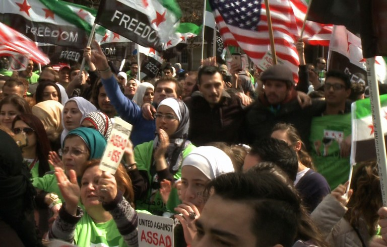syrian americans rally