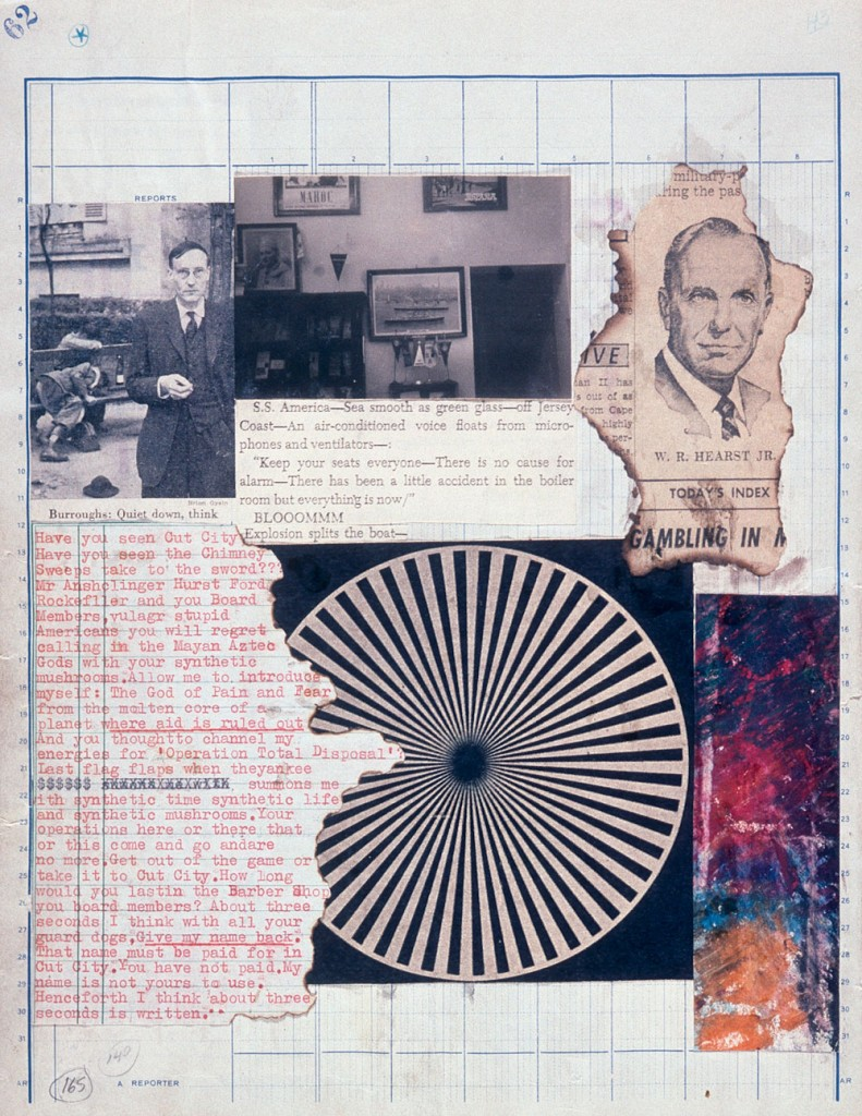 William S. Burroughs and Brion Gysin, The Third Mind, 1965. Crayon, gelatin-silver prints, letterpress, offset lithography, and typescript on graph paper, 12 3/8 x 9 5/8 in (31.3 x 24.3 cm). Los Angeles County Museum of Art, purchased with funds provided by the Hiro Yamagata Foundation