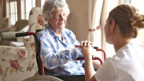 Senior citizen in wheelchair