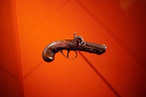 The Derringer pistol used by John Wilkes Booth to shoot Abraham Lincoln. Photo by Mandel Ngan/AFP/Getty Images