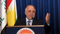 Haidar al-Abadi - Masoud Barzani press conference in Erbil