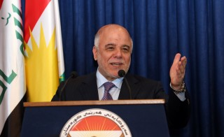 Haidar al-Abadi - Masoud Barzani press conference in Erbil