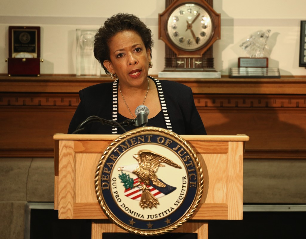 Attorney General Loretta Lynch speaks about the recent violence in Baltimore during a news conference at the Justice Department April 29, 2015 in Washington, DC. Photo by Mark Wilson/Getty Images