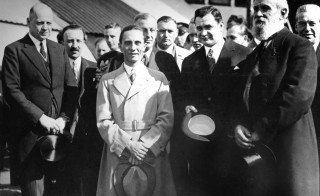 Goebbels in Warsaw. On his left, Von Moltke, June 1934, Germany. (Photo by: Photo12/UIG via Getty Images)