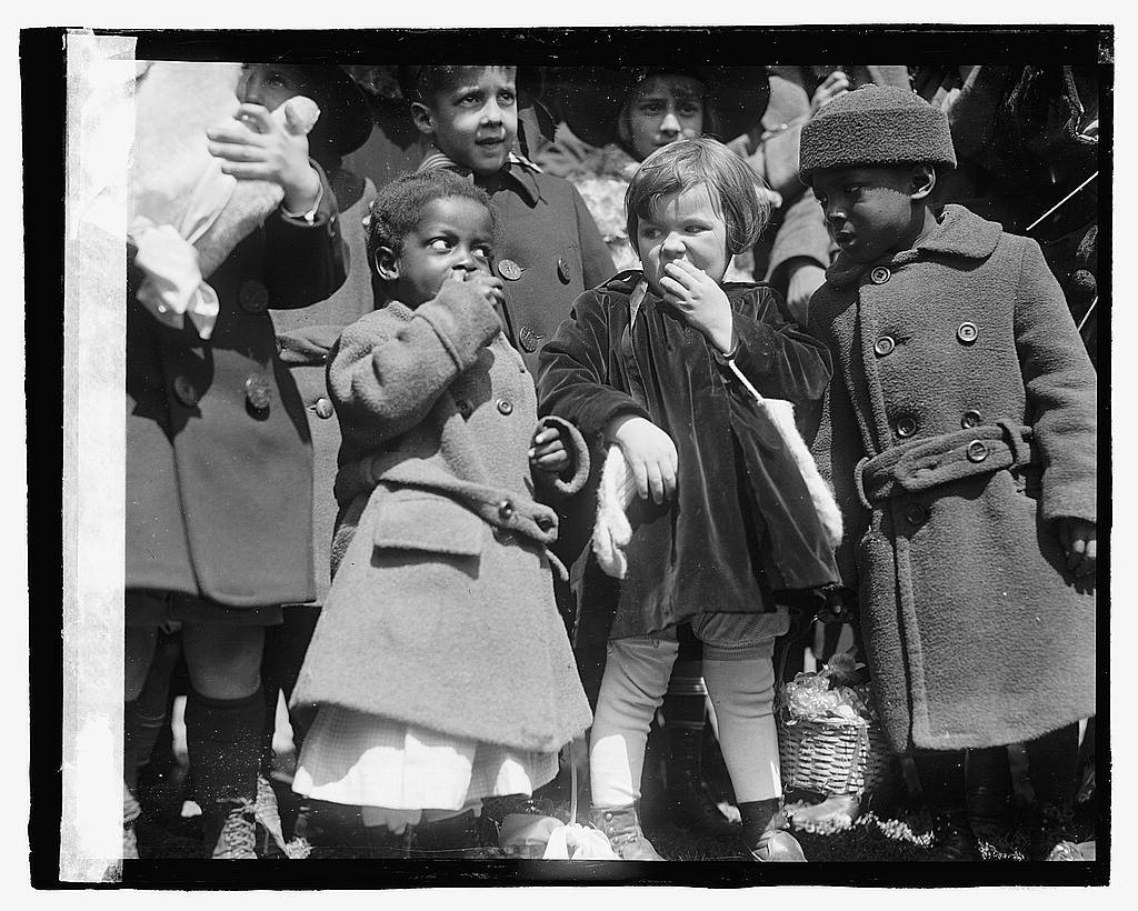 Children at the 1923 White House Easter Egg Roll (Photo credit: Library of Congress)