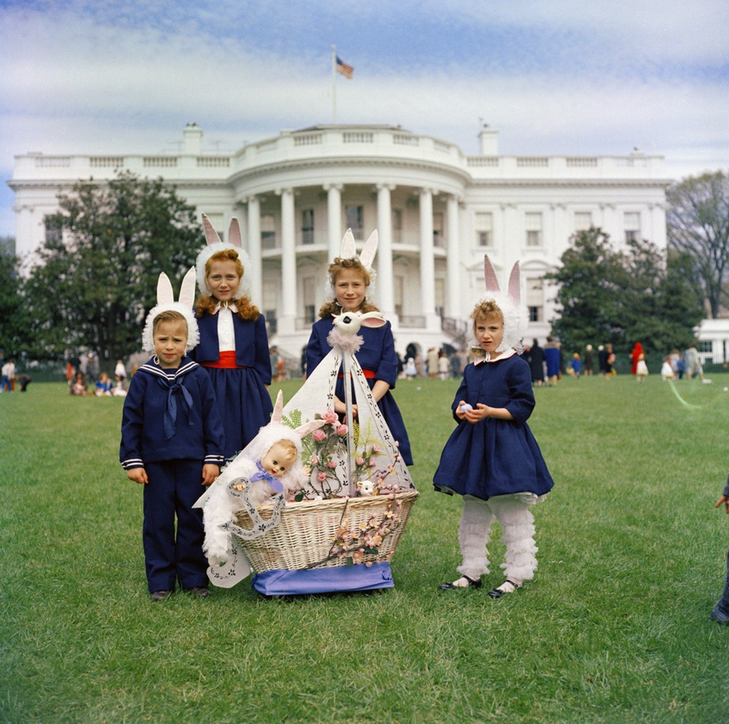 Easter Egg Roll at the White House, 1961. (Photo credit: Robert Knudsen, White House/John F. Kennedy Presidential Library and Museum, Boston.)