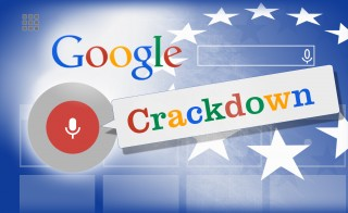 GOOGLE CRACKDOWN monitor