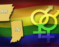 HEATED BATTLE Arkansas Indiana  gay symbols monitor