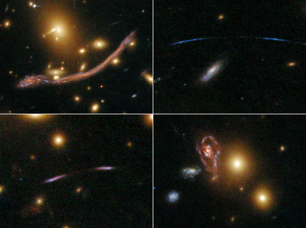 Abell 370 is one of the very first galaxy clusters where astronomers observed the phenomenon of gravitational lensing, where the warping of space by the cluster's gravitational field distorts and magnifies the light from galaxies lying far behind it. This is manifested as arcs and streaks in the picture, which are the stretched images of background galaxies. Photo by NASA, ESA, the Hubble SM4 ERO Team and ST-ECF