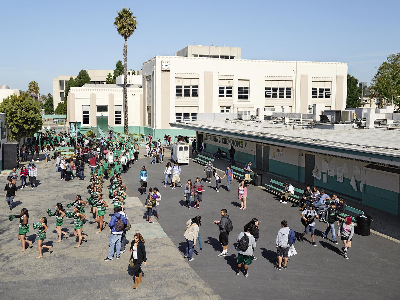Inglewood High School, Inglewood, California. Photo by James Mollison