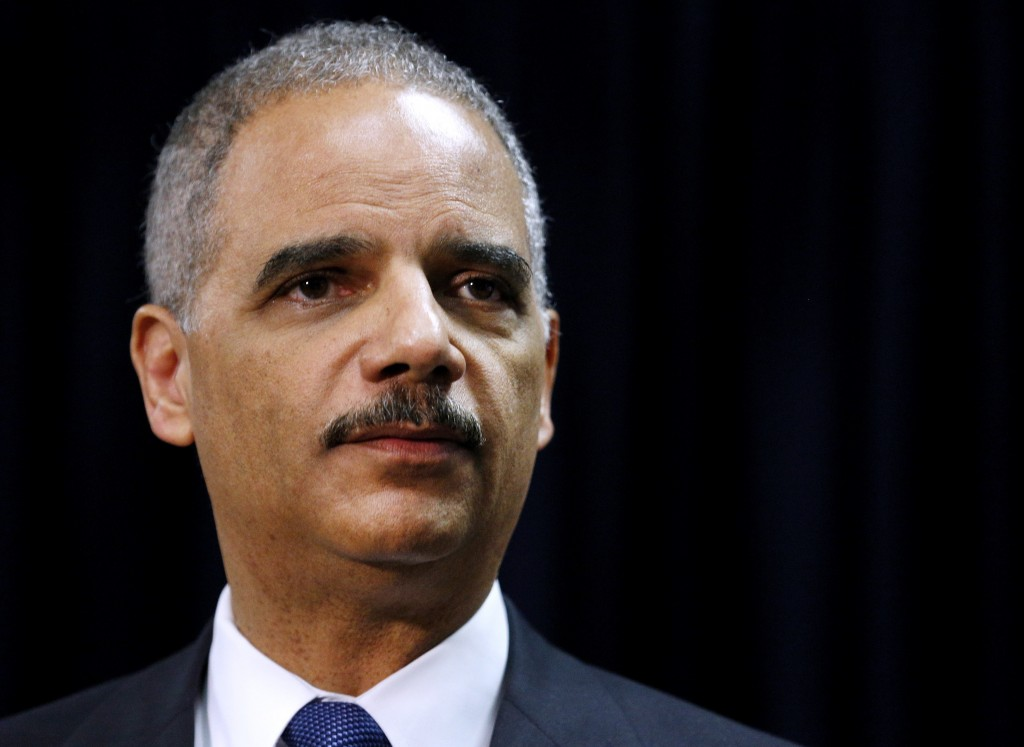 Attorney General Eric Holder, seen in this 2012 file photo, ends his tenure at the Justice Department Monday. Photo by Jonathan Bachman/Reuters