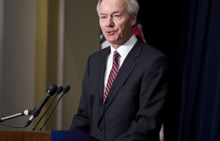 File photo of Asa Hutchinson from 2012 by Joshua Roberts/Reuters