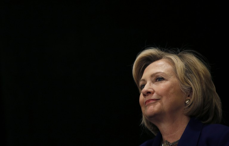 File photo of Hillary Clinton by Mike Segar/Reuters
