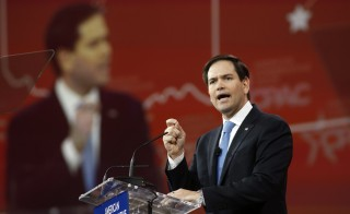 Florida Senator Marco Rubio speaks at the Conservative Political Action Conference at National Harbor in Maryland, February 27, 2015. Rubio is set to announce his bid for the 2016 Republican presidential nomination on Monday. Photo by Kevin Lamarque/Reuters