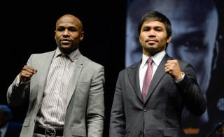 This Saturday, boxing's pound-for-pound king Floyd Mayweather will take on his No. 1 competitor Manny Pacquiao for the first time. Photo by  Robert Hanashiro-USA TODAY Sports.