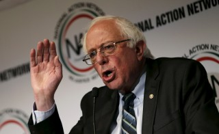 U.S. Senator Bernie Sanders (I-VT) speaks at the opening of the 2015 National Action Network Convention in New York City April 8, 2015. Photo by Mike Segar