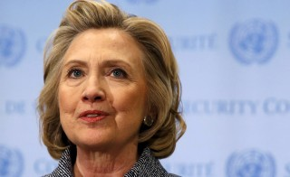 Former U.S. Secretary of State Hillary Clinton speaks during a news conference at the United Nations in New York in this March 10, 2015 file photo. Clinton's 2016 presidential campaign is expected to focus on middle-class economic security as well as working-class opportunity. Photo by Mike Segar/Reuters.