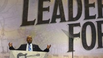 Benjamin Carson speaks during the National Rifle Association's annual meeting in Nashville, Tennessee