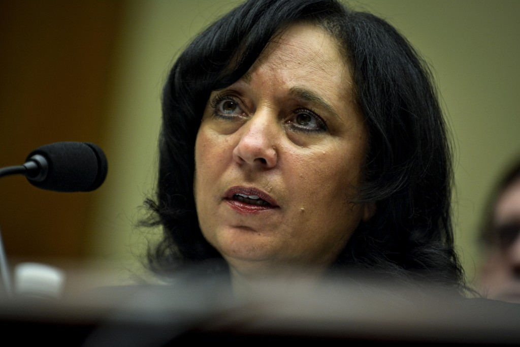 DEA administrator Michele Leonhart testifies before the House Committee on Oversight and Government Reform in a hearing on sexual harassment and misconduct allegations at the DEA and FBI in Washington .  Photo by James Lawler Duggan/Reuters.