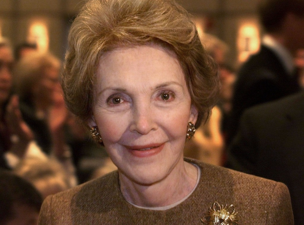 Former first lady Nancy Reagan died XXXXXXXXXXXXXX at the age of XX. 1999 file photo by Reuters
