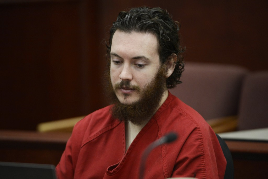 James Holmes sits in court for an advisement hearing at the Arapahoe County Justice Center in Centennial, Colorado on June 4, 2013. The trial of Holmes, who could face execution if convicted of killing 12 moviegoers in summer 2012, began Monday. Photo by Andy Cross/Pool/Reuters