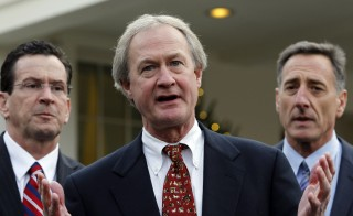Former Rhode Island governor Lincoln Chafee says he has formed an exploratory committee to pursue the Democrat nomination to run for president. Photo by Jason Reed/Reuters.