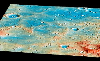 This image shows planet Mercury's Shakespeare basin, where the MESSENGER spacecraft collided on Thursday after orbiting for. Image by NASA/Johns Hopkins University Applied Physics Laboratory/Carnegie Institution of Washington