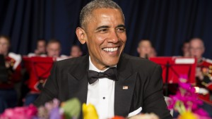 U.S. President Barack Obama arrives at the 2015 White House Correspondents' Association Dinner
