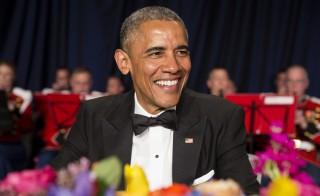 U.S. President Barack Obama arrives at the 2015 White House Correspondents' Association Dinner