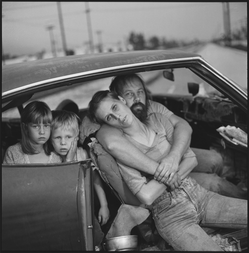 The Damm Family in Their Car, Los Angeles, California, USA 1987. Photo by Mary Ellen Mark