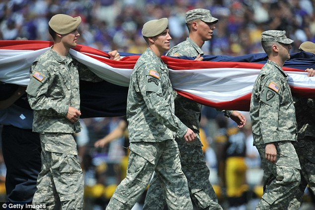 The National Guard contributed $5.3 million in taxpayer money, the bulk of the DOD payments. Photo via Getty Images.