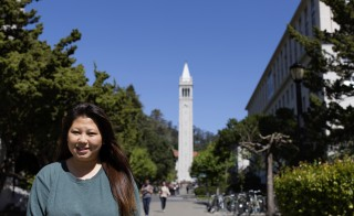 Dao Chang, 21, is a senior majoring in sociology and pre-pharmacy at UC Berkeley on Friday, April 10, 2015.  Chang is originally from Thailand and one of either other Hmong students admitted to Cal during her freshman year. (Photo: Alison Yin/The Hechinger Report)