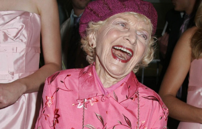 """Actress Ellen Albertini Dow, best known for her role in """"Wedding Crashers"""" and """"The Wedding Singer,"""" died Monday at age 101. Photo by Seth Wenig/Reuters."""