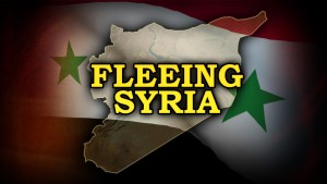 FLEEING SYRIA  with monitor SYRIA